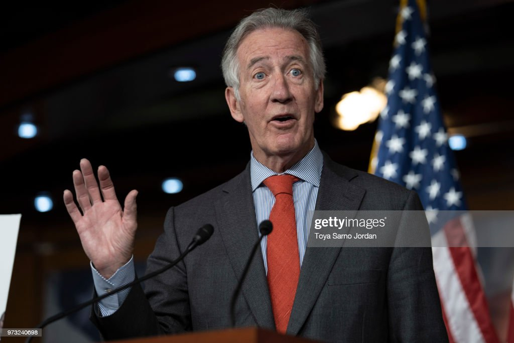 Rep. Richard Neal (D-MA), speaks during a news conference held by House Democrats condemning the Trump Administration's targeting of the Affordable Care Act's pre-existing condition, in the US Capitol on June 13, 2018 in Washington, DC.