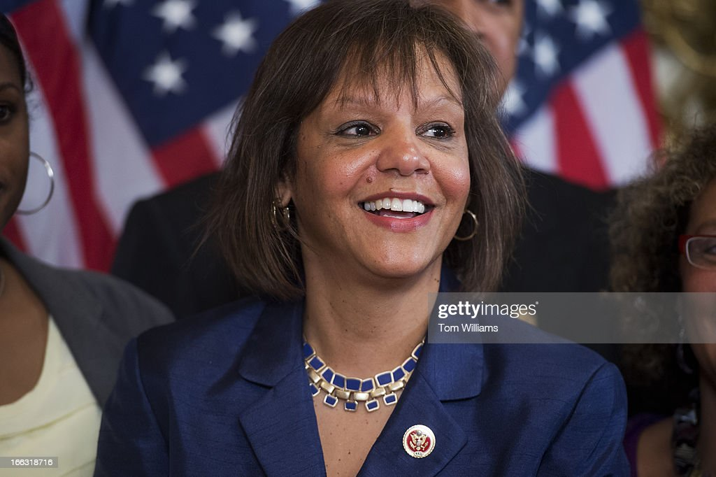 Rep. Robin Kelly, D-Ill., attends a swearing-in ceremony with in the Capitol on the day she was sworn in on the House floor. Kelly won a special election to replace former Rep. Jesse Jackson Jr., D-Ill.