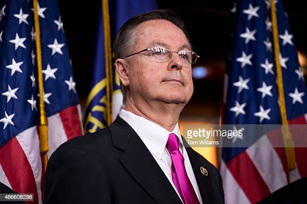 Rep Rod Blum RIowa attends a news conference in the Capitol Visitor Center with members of the House Budget Committee to introduce the FY2016 budget...