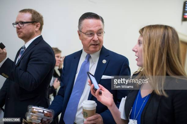 Rep Rod Blum RIowa is interviewed in Rayburn Building after he and members of the House Freedom Caucus met at the White House with President Trump...