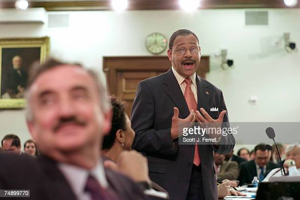 Rep Rodney Alexander RLa during the markup of fiscal 2007 supplemental appropriations At left is Rep Ciro D Rodriguez DTexas The panel approved a...