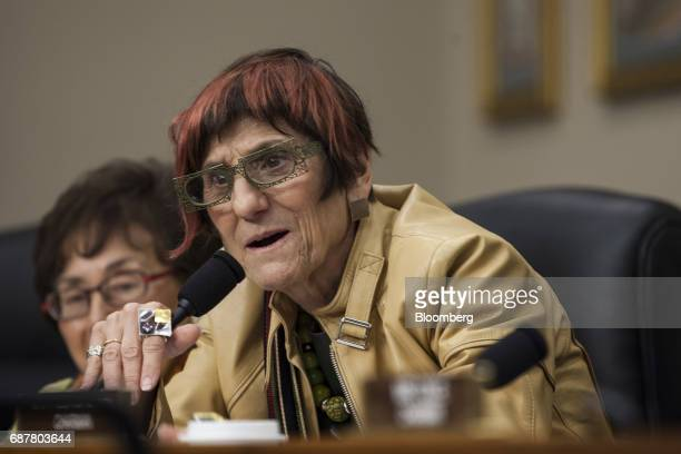 Rep Rosa DeLauro a Democrat from Connecticut questions Betsy DeVos US secretary of education not pictured during a House Appropriations...
