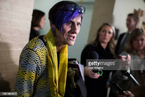 Rep Rosa DeLauro DConn arrives for a meeting of the House Democratic Caucus in the Capitol on November 15 2018