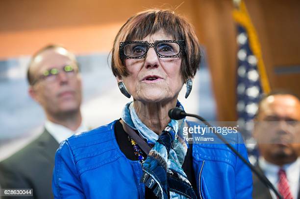 Rep Rosa DeLauro DConn attends a news conference in the Capitol Visitor Center where she and members of the Congressional Progressive Caucus...