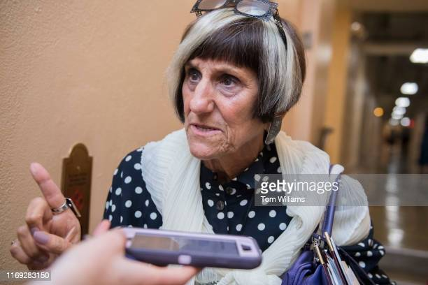 Rep Rosa DeLauro DConn talks with reporters after a meeting of the House Democratic Caucus on Tuesday September 10 2019