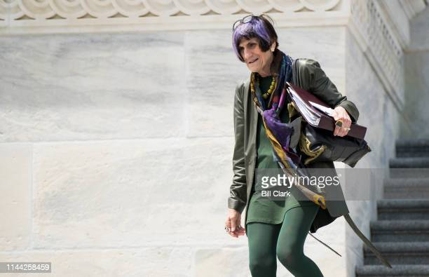 Rep Rosa DeLauro DConn walks down the House steps after the final votes of the week on Friday May 17 2019