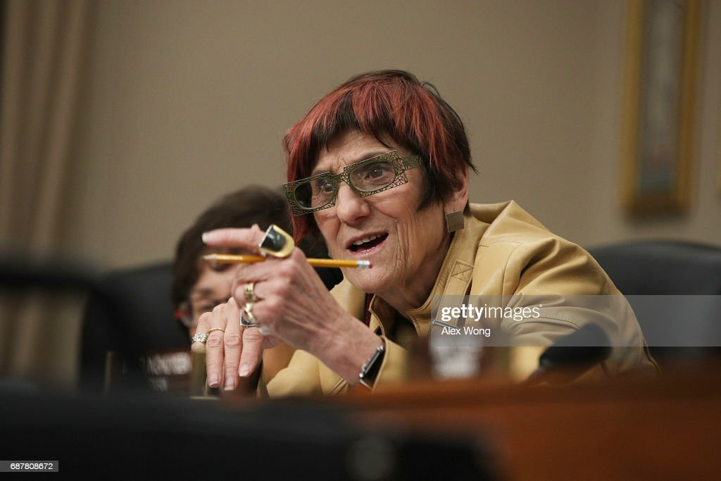 U.S. Rep. Rosa DeLauro (D-CT) speaks during a hearing before the Labor, Health and Human Services, Education and Related Agencies Subcommittee of the House Appropriations Committee May 24, 2017 on Capitol Hill in Washington, DC. The subcommittee held a hearing on 'Department of Education Budget.'