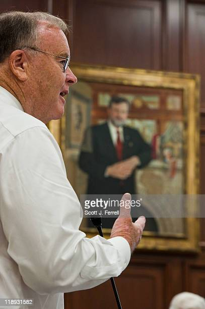Rep Sam Farr DCalif during the House Appropriations Committee markup of a fiscal 2012 interior and environment draft bill A portrait of former...