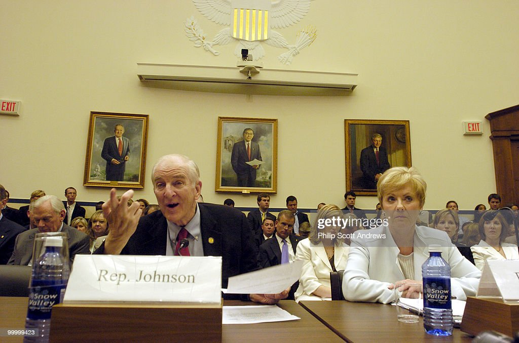 Rep Sam Johnson, R-Tex, speaks during an Aviation Subcommittee hearing on 'Reforming the Wright Amendment.' an amendment that limits air traffic from Dallas' Love Field Airport.