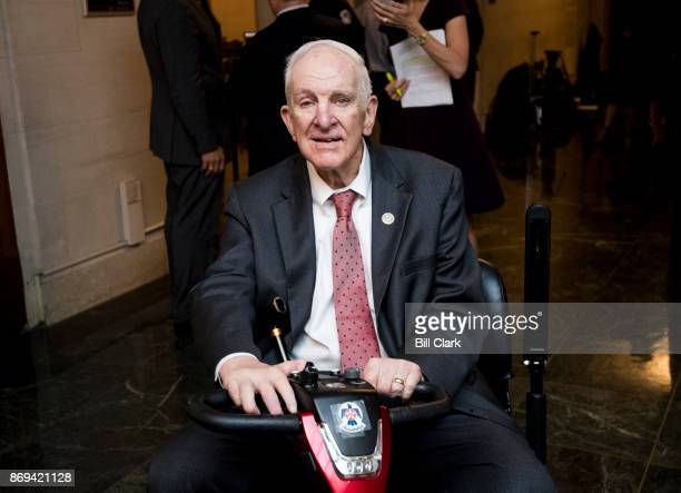 Rep Sam Johnson RTexas leaves the House Republicans' meeting in the House Ways and Means Committee hearing room on the Republicans' tax reform plan...
