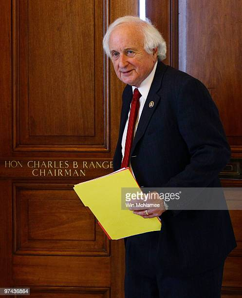 Rep Sandy Levin leaves the House Ways and Means office in the US Capitol March 4 2010 in Washington DC Levin will replace Rep Charles Rangel and be...