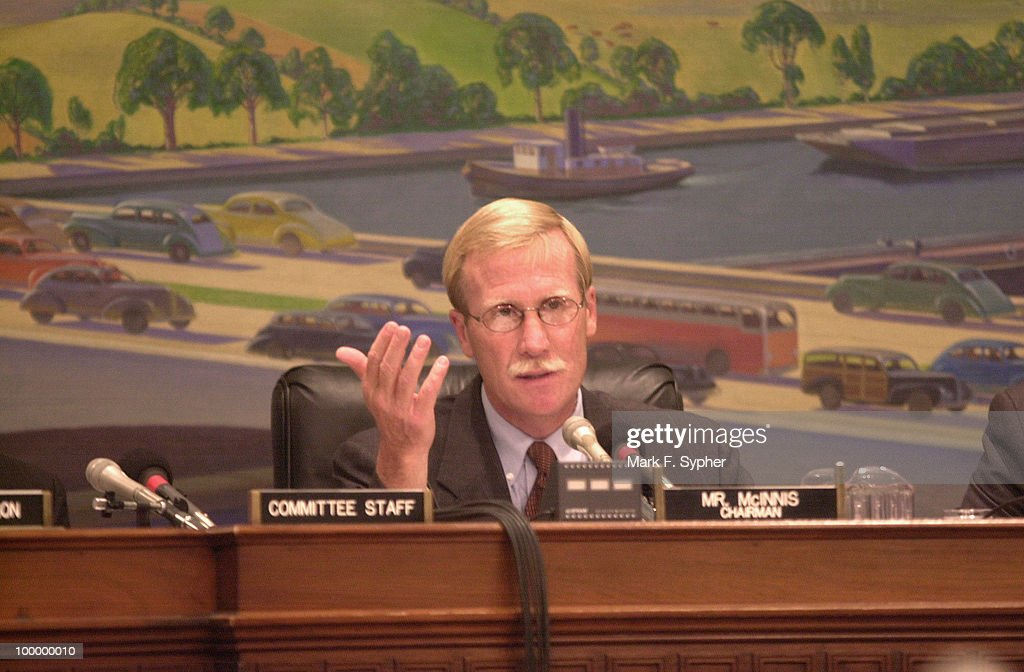 Rep. Scott McInnis (R-CO), Chairman of the Subcommittee on Forests and Forest Health listens to testimonys concerning the need for a 'Fire Czar' or overseer of multijurisdictional fire fighters.