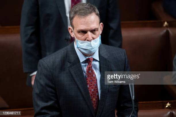 Rep. Scott Perry, R-Pa., objects to Pennsylvanias Electoral College votes during the joint session of Congress to certify the 2020 presidential...