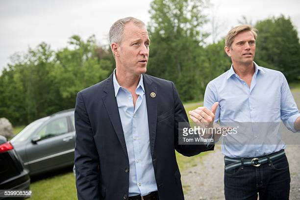 Rep Sean Patrick Maloney DNY left and his husband Randy Florke meet in the Newburgh NY near the Water Department June 11 2016 Maloney was touring...