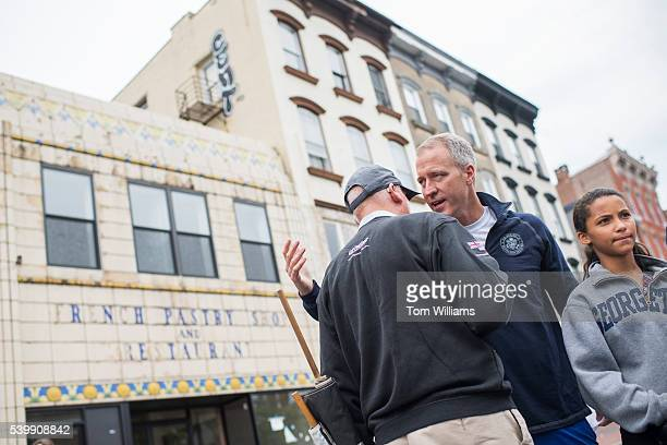 Rep Sean Patrick Maloney DNY talks with Rob Dyson left before a the 'Think Differently Dash' that benefits people with disabilities in Poughkeepsie...