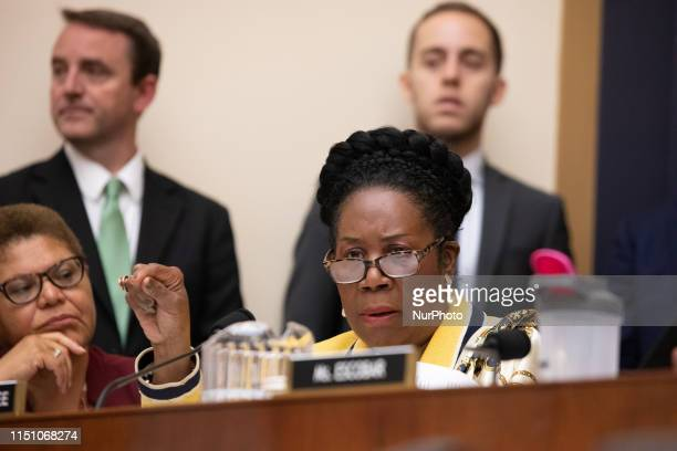 Rep. Sheila Jackson Lee , speaks during a hearing about reparations for the descendants of slaves for the House Judiciary Subcommittee on the...