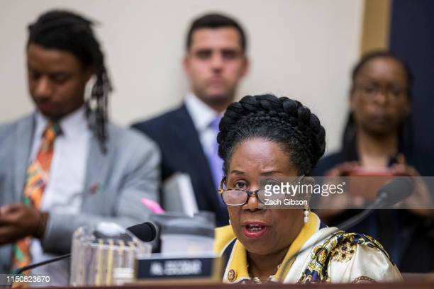 Rep. Sheila Jackson Lee speaks during a hearing on slavery reparations held by the House Judiciary Subcommittee on the Constitution, Civil Rights and...