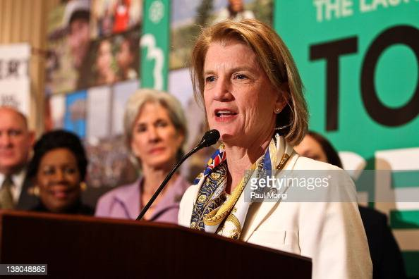 Rep Shelley Moore Capito shares remarks at Girl Scouts At 100 The Launch of ToGetHerThere at Capitol Hill Cannon House Office Bldg Caucus Room on...