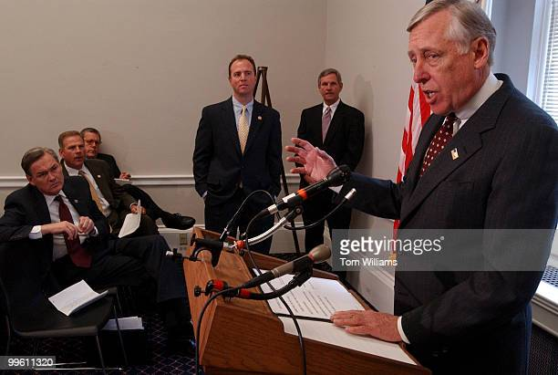 Rep Steny Hoyer DMd spoke with the Blue Dog Coalition about the serious concern about the efforts of the Republican leadership to approve an increase...