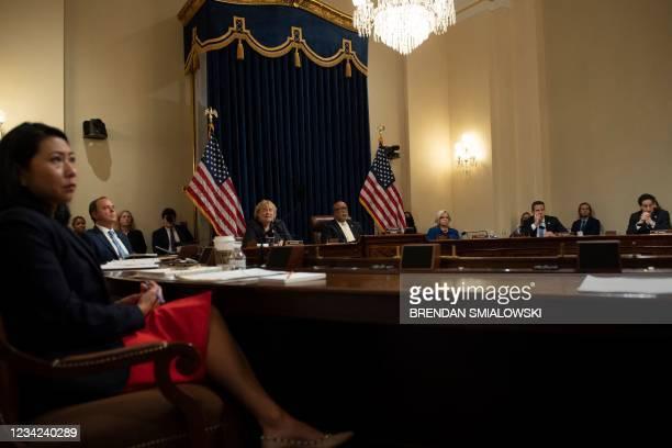 Rep. Stephanie Murphy , Rep. Adam Schiff , Rep. Zoe Lofgren , committee chairman Rep. Bennie Thompson , Rep. Liz Cheney , Rep. Adam Kinzinger , and...