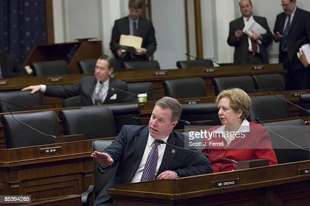 Rep Steve Driehaus DOhio makes a point during the House Financial Services mark up of a bill to amend the Emergency Economic Stabilization Act of...