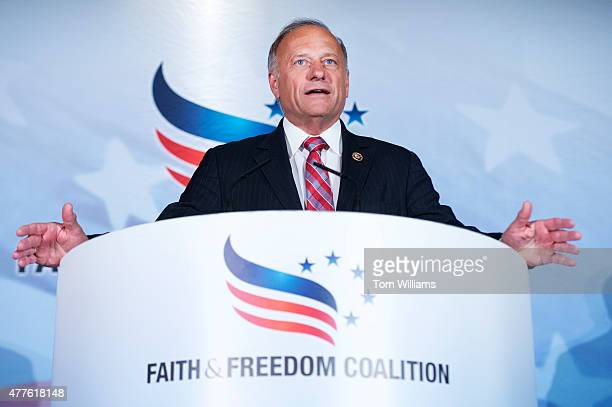 Rep Steve King RIowa addresses the Faith Freedom Coalitions Road to Majority conference which featured speeches by conservative politicians at the...