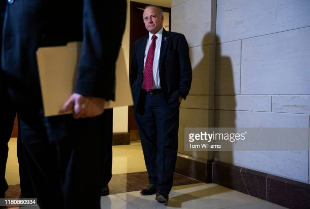 Rep Steve King RIowa attends a news conference after being denied entrance to the deposition and access to the transcripts related to the House's...