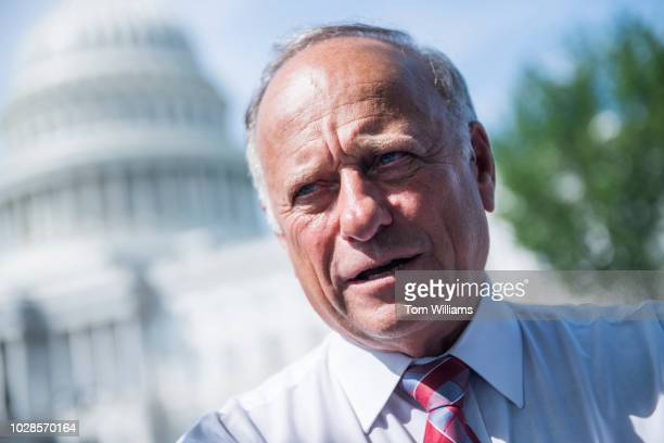 Rep Steve King RIowa attends a rally with Angel Families on the East Front of the Capitol to highlight crimes committed by illegal immigrants in the...