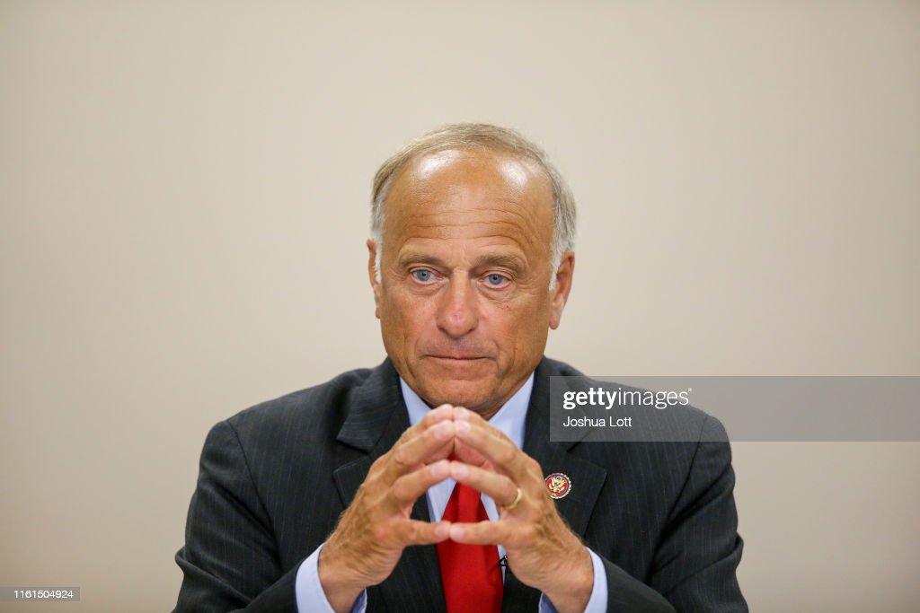 Republican Rep. Steve King Holds Town Hall Meeting In Boone, Iowa : News Photo
