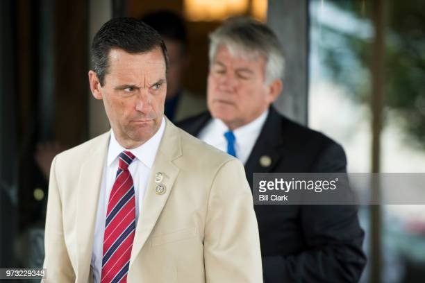 Rep Steve Knight RCalif leaves the House Republican Conference meeting at the Capitol Hill Club in Washington on Wednesday morning June 13 2018