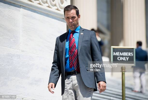 Rep Steve Knight RCalif leaves the US Capitol building after final votes of the week on Friday June 15 2018