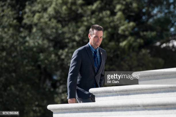 Rep Steve Knight RCalif walks up the House steps for final votes of the week in the Capitol on March 8 2018