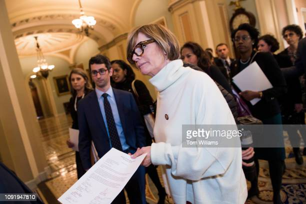 Rep Susie Lee DNev attempts to deliver a letter to Senate Majority Leader Mitch McConnell RKy on the Senate floor calling on the Senate to act on...