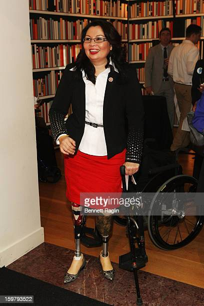 Rep Tammy Duckworth attends a celebration for leading women in Washington hosted by GOOGLE ELLE and The Center for American Progress on January 20...