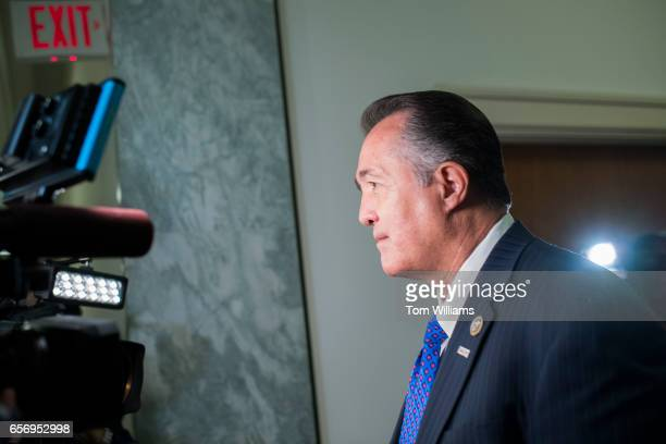 Rep Trent Franks RAriz is interviewed in Rayburn Building after he and members of the House Freedom Caucus met at the White House with President...