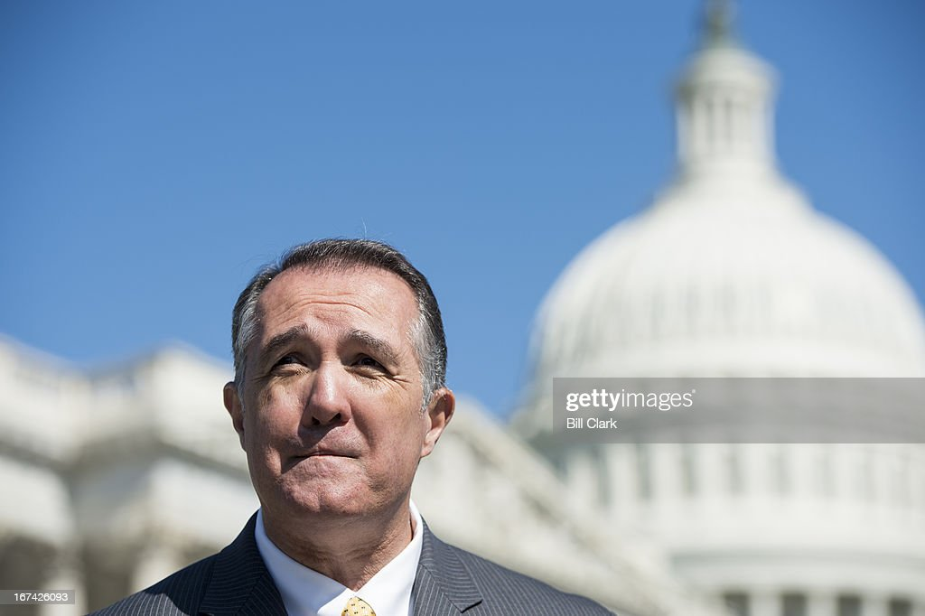 Rep. Trent Franks, R-Ariz., speaks during a news conference outside of the Capitol on Thursday, April 25, 2013, on the 'Victims' Rights Amendment.' The amendment would provide that a crime victim 'shall have rights to reasonable notice of, and shall not be excluded from, public proceedings relating to the offense by which they were affected, as well as rights to be heard at any release, plea or sentencing.'