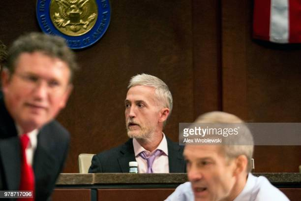 Rep Trey Gowdy at the US Capitol before a hearing with Inspector General Horowitz on June 19 2018 in Washington DC The Inspector General report...