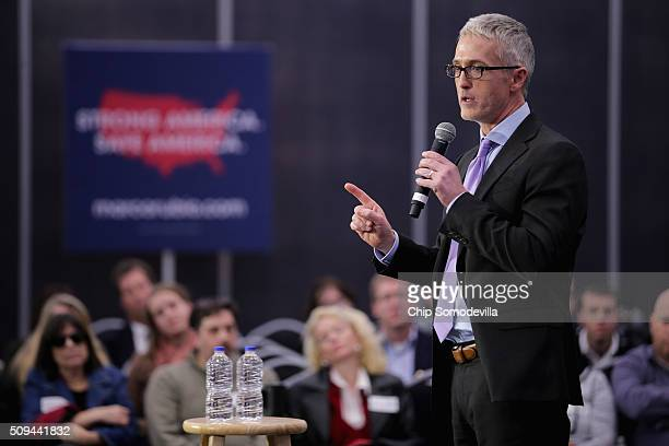 Rep Trey Gowdy chairman of the House Select Committee on Benghazi speaks during a campaign rally for Republican presidential candidate Sen Marco...