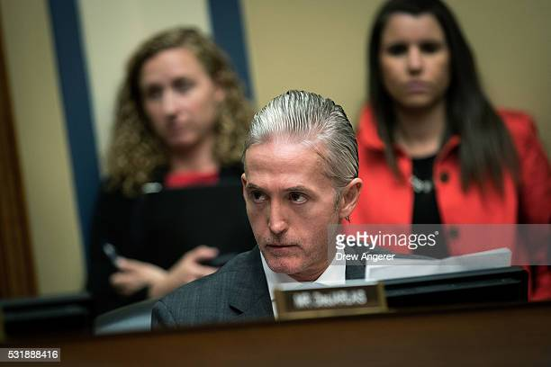 """Rep. Trey Gowdy listens to testimony during a House Oversight and Government Reform Committee hearing titled """"White House Narratives on the Iran..."""