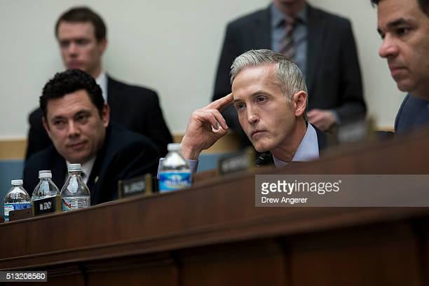 Rep Trey Gowdy listens to testimony from Federal Bureau of Investigation Director James Comey during a House Judiciary Committee hearing titled The...