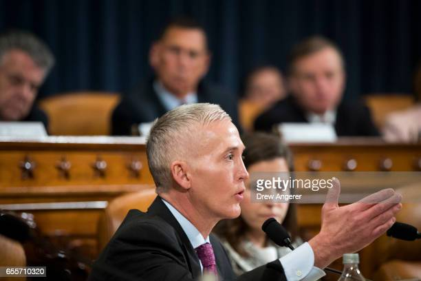 Rep Trey Gowdy questions witnesses during a House Permanent Select Committee on Intelligence hearing concerning Russian meddling in the 2016 United...