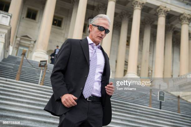 Rep Trey Gowdy RSC left leaves the Capitol after the House passed a fiscal 2018 budget resolution on October 26 2017