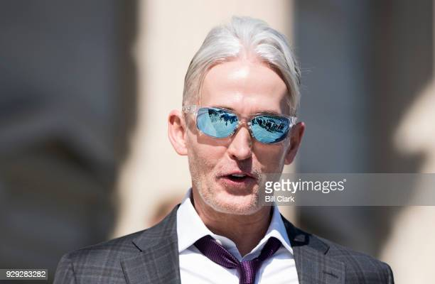 Rep. Trey Gowdy, R-S.C., walks down the House steps after final votes of the week in the Capitol on March 8, 2018.