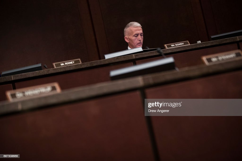 House Intelligence Cmte Holds Hearing On Russian Interference In U.S. Election : News Photo