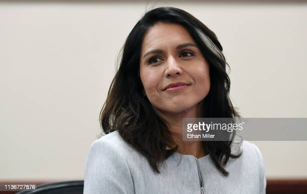 S Rep Tulsi Gabbard attends a meetandgreet at United Way of Southern Nevada on March 18 2019 in Las Vegas Nevada Gabbard is campaigning for the 2020...