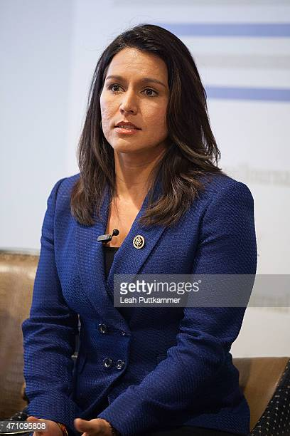 Rep Tulsi Gabbard particpates on a panel on 'Culture Shock Vets and the Battle Back Home' hosted by The Atlantic and The National Journal at Teddy...