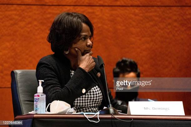 S Rep Val Demings attends a hearing of the House Judiciary Committee on at the Capitol Building June 24 2020 in Washington DC Democrats are...
