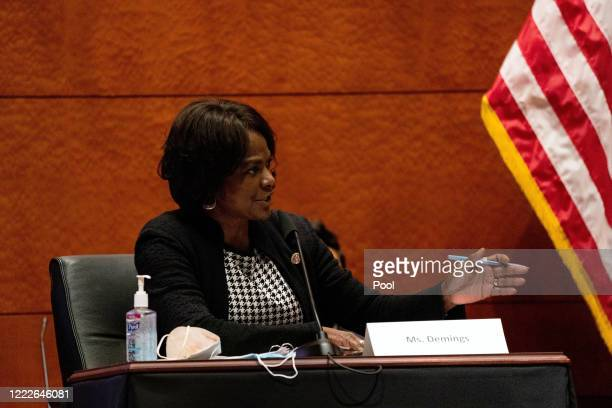 S Rep Val Demings speaks at a hearing of the House Judiciary Committee on at the Capitol Building June 24 2020 in Washington DC Democrats are...