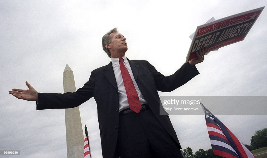 Rep. Virgil Goode, R Va, speaks at the The Minuteman Civil Defense Corps (MCDC) Rally and march to protest the North American Union and amnesty for illegal immigrants on the National Mall on Friday, June 15, 2007.