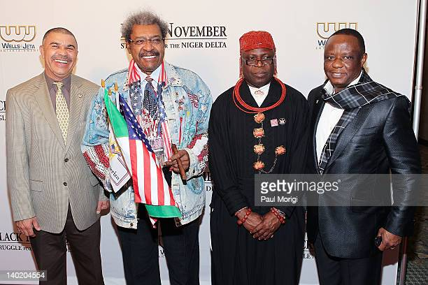 Rep William Lacy Clay Don King King Frank Okurakpo and Captain Hosa Okunbo attend the 'Black November' film screening at The Library of Congress on...
